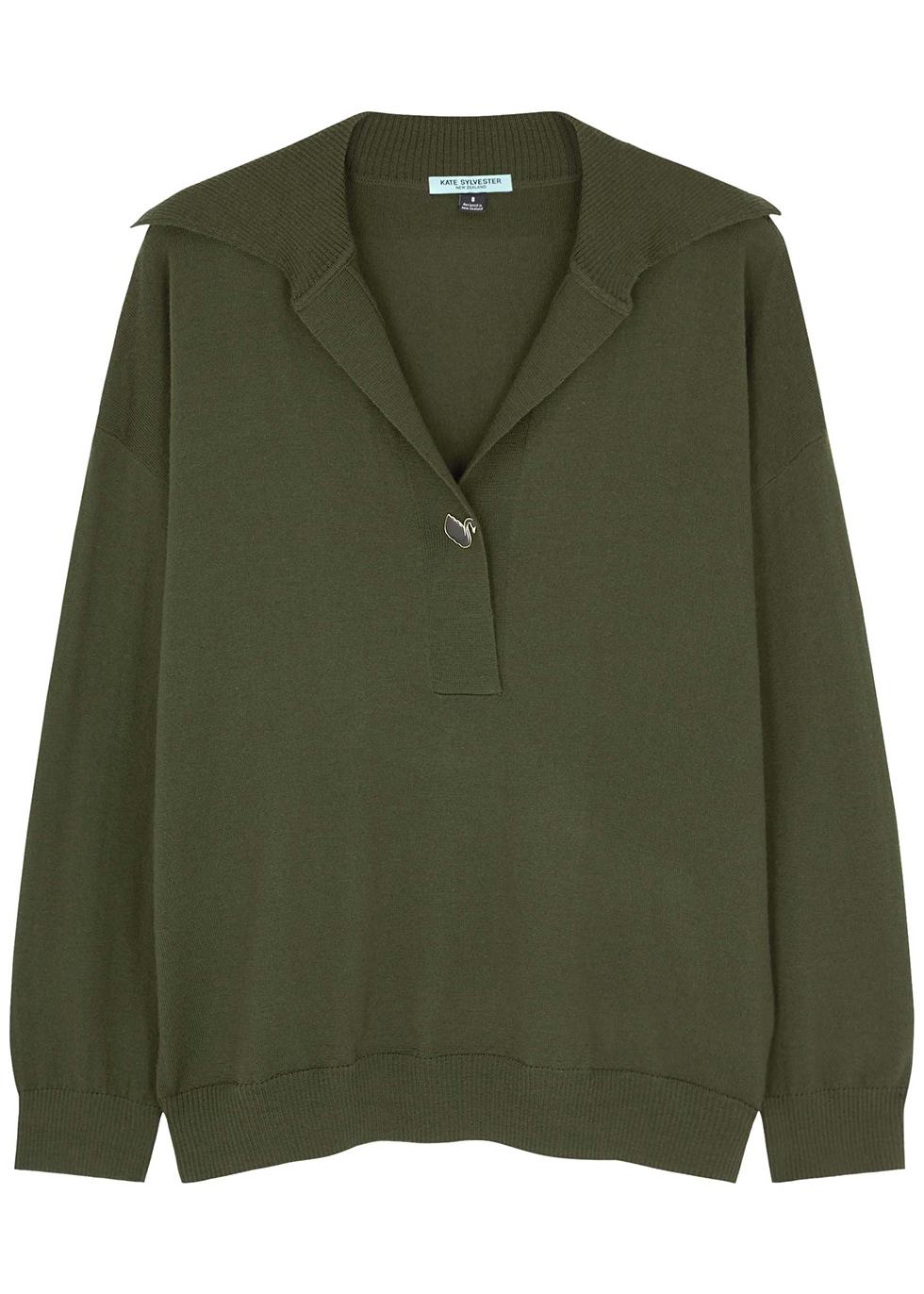 Hilary green wool jumper