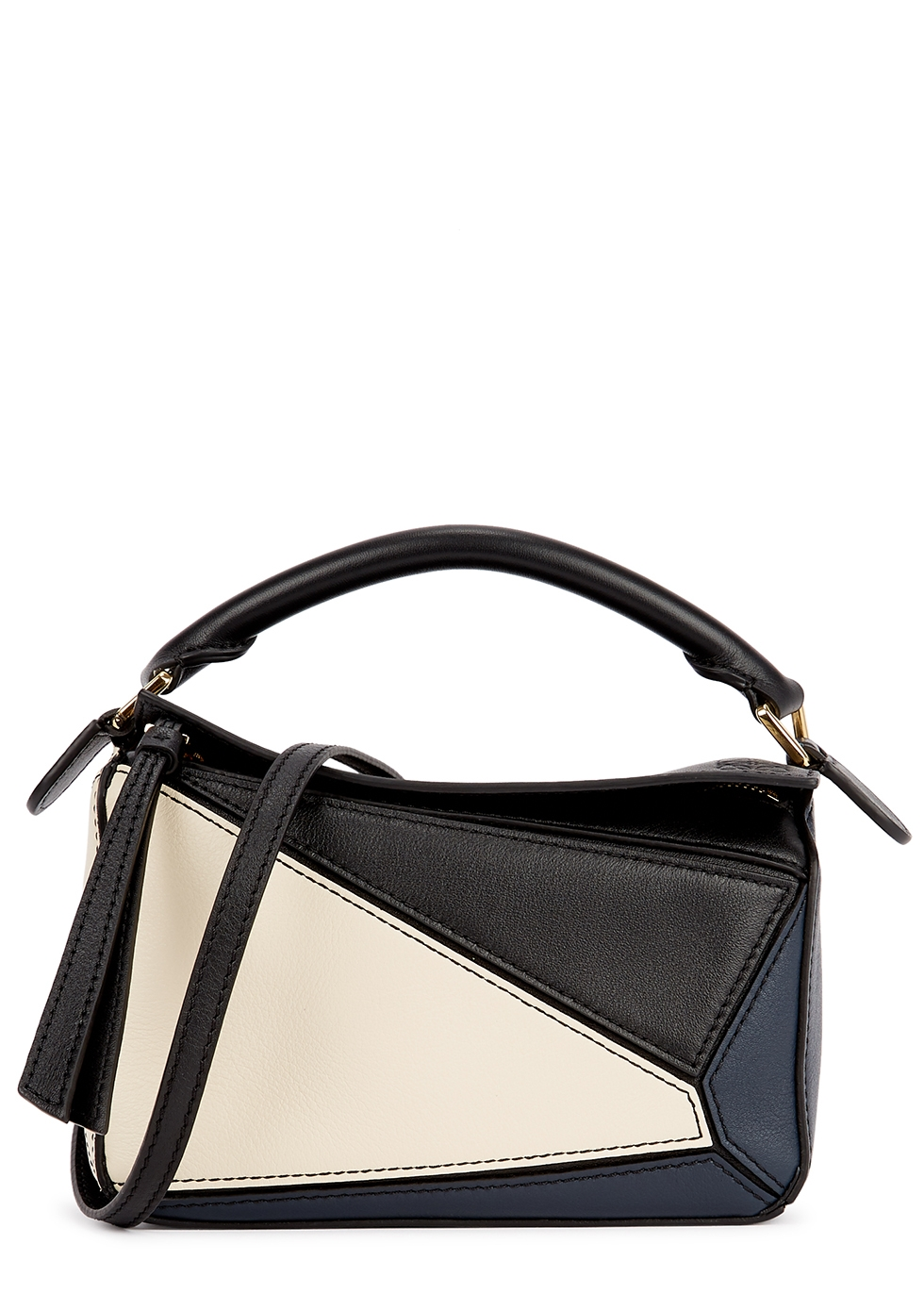 Puzzle mini panelled leather cross-body bag
