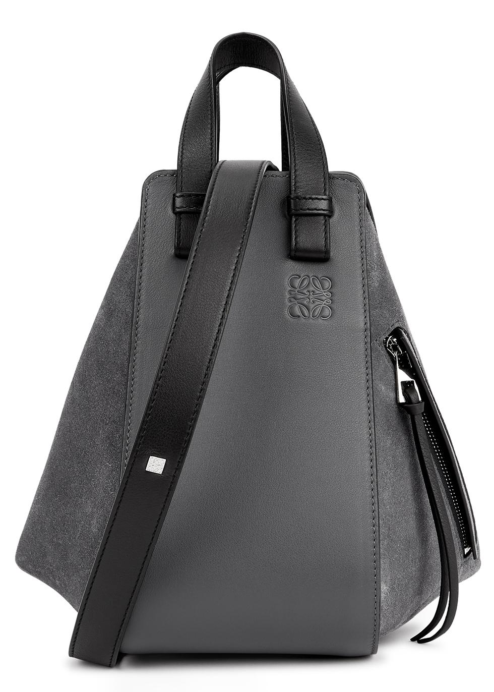 Hammock small panelled suede shoulder bag