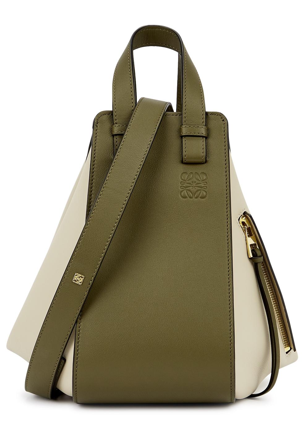 Hammock small panelled leather shoulder bag