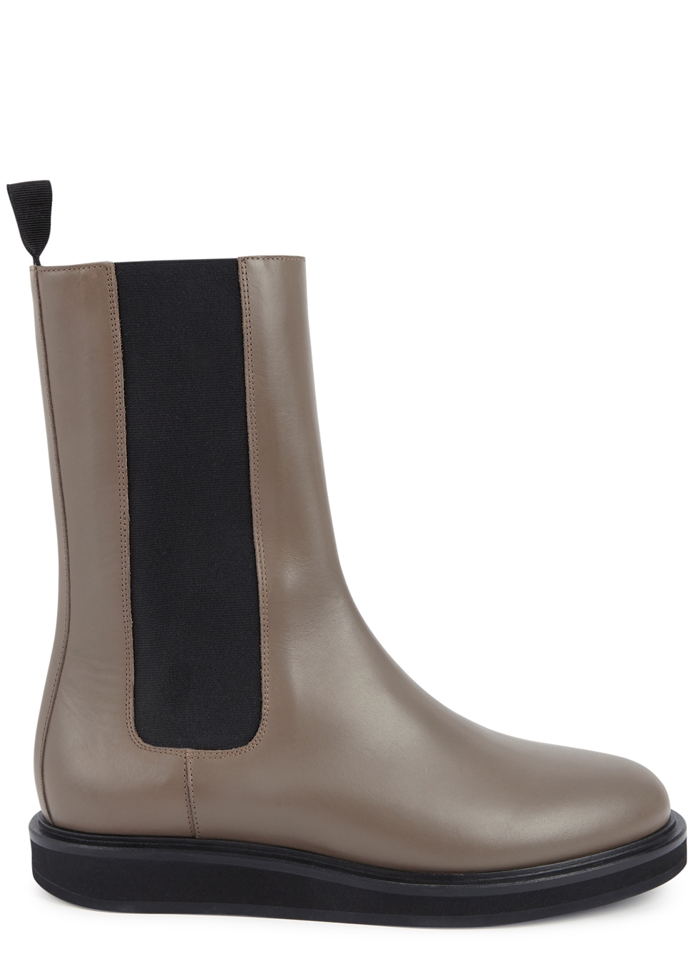 Taupe leather Chelsea boots