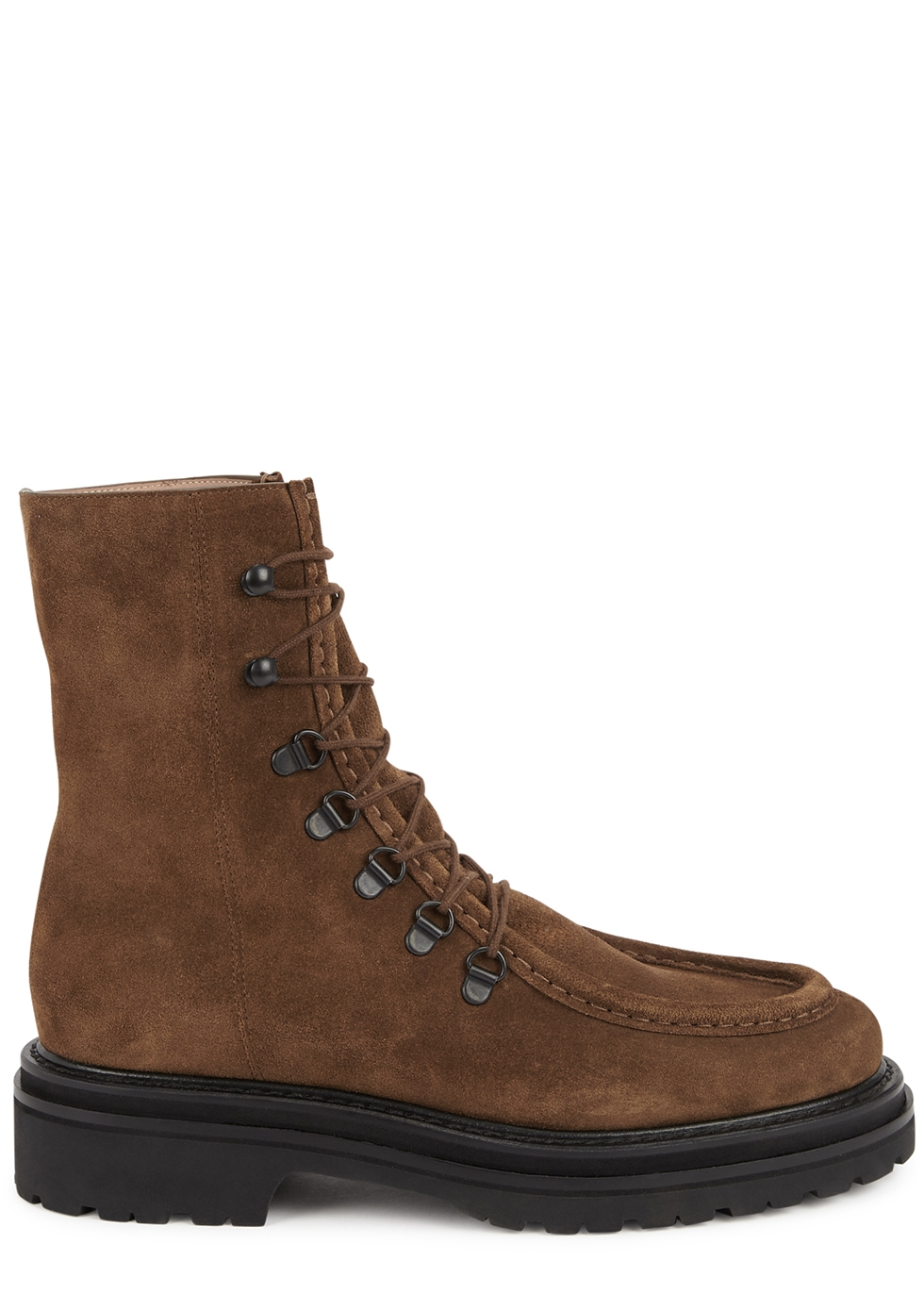 College brown suede ankle boots