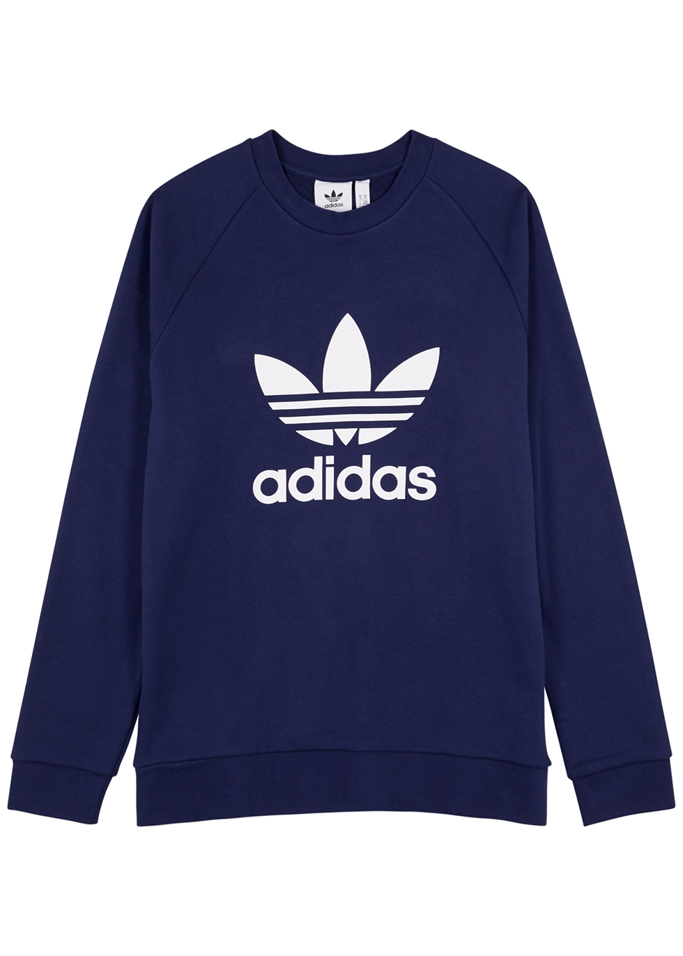 Navy logo cotton sweatshirt