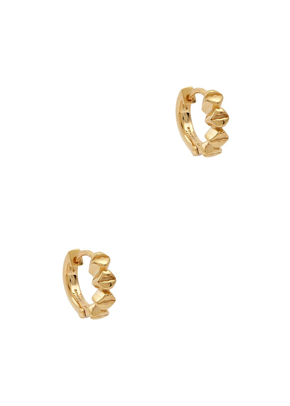 Vita Lips 18kt gold-plated hoop earrings