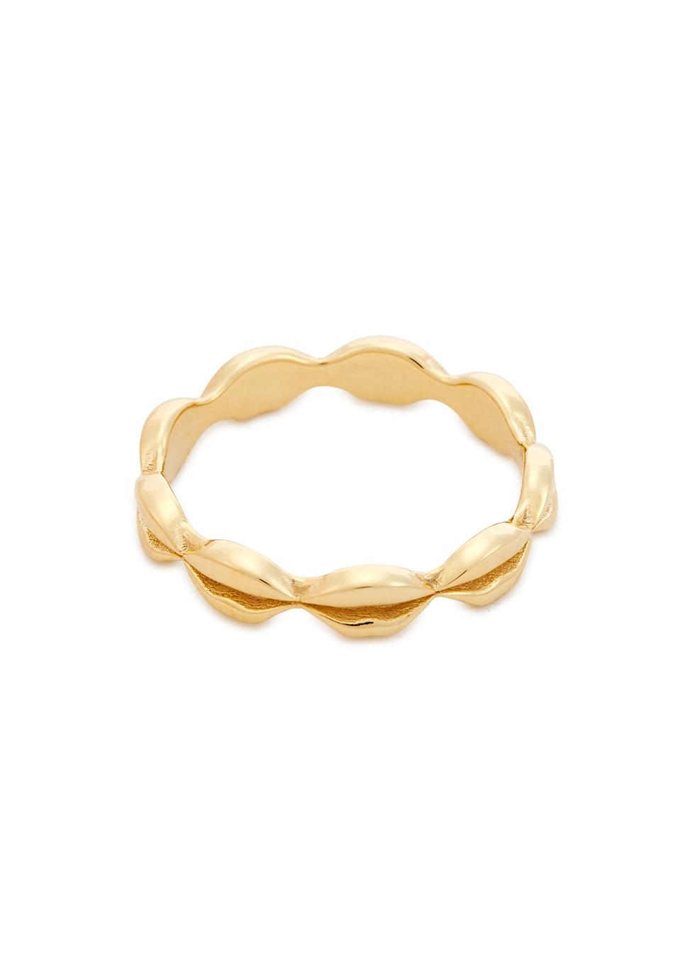 Vita Lips 18kt gold-plated ring