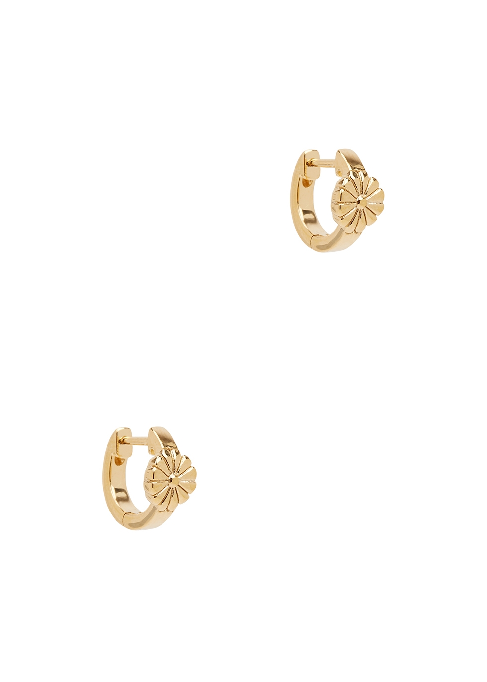 Daisy 18kt gold-plated hoop earrings