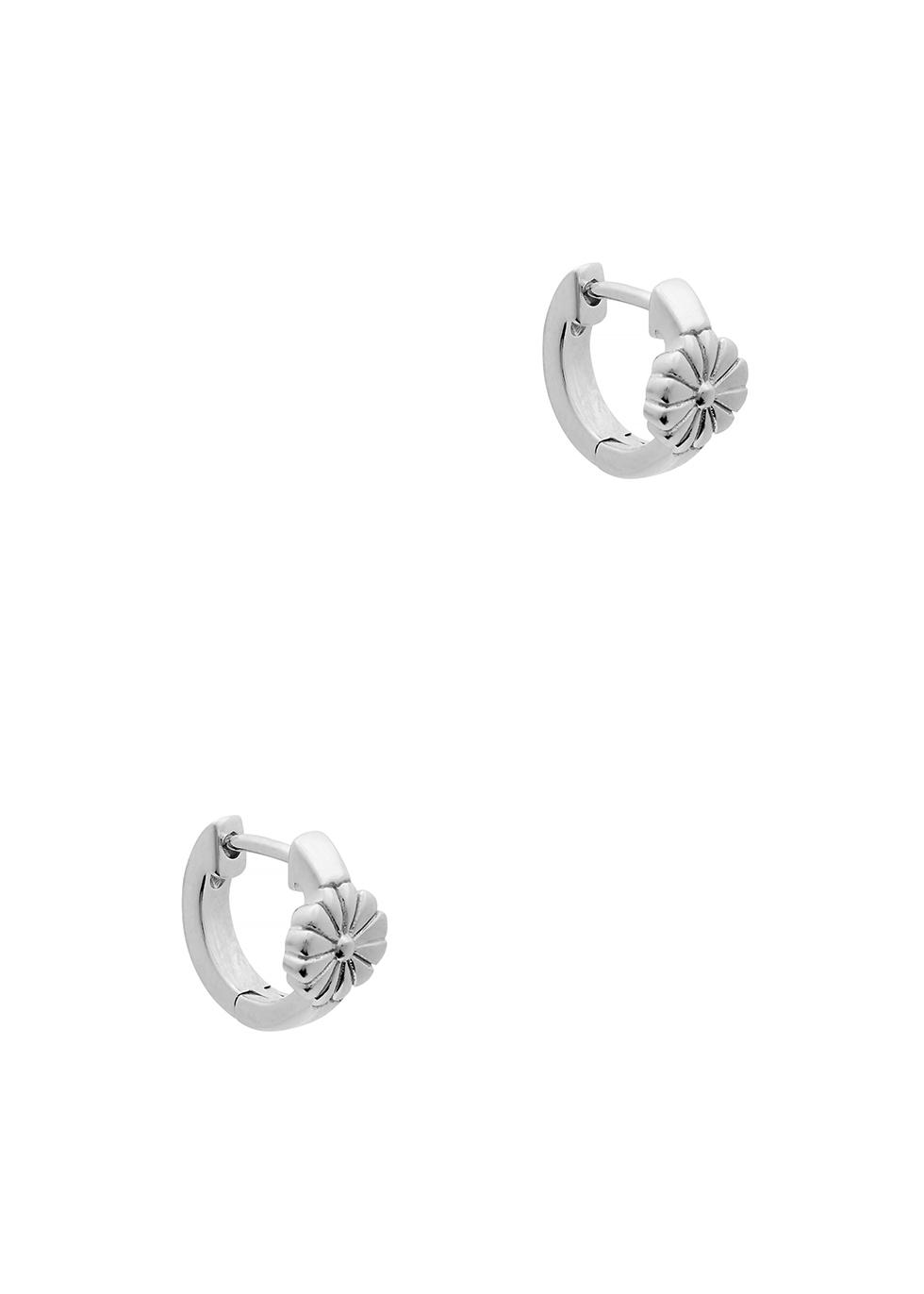 Daisy sterling silver drop earrings
