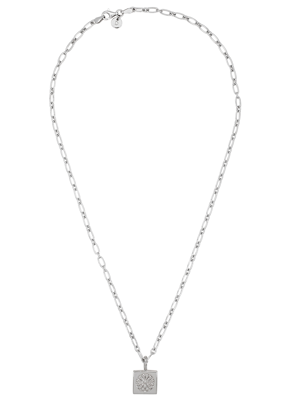 Daisy Square sterling silver chain necklace