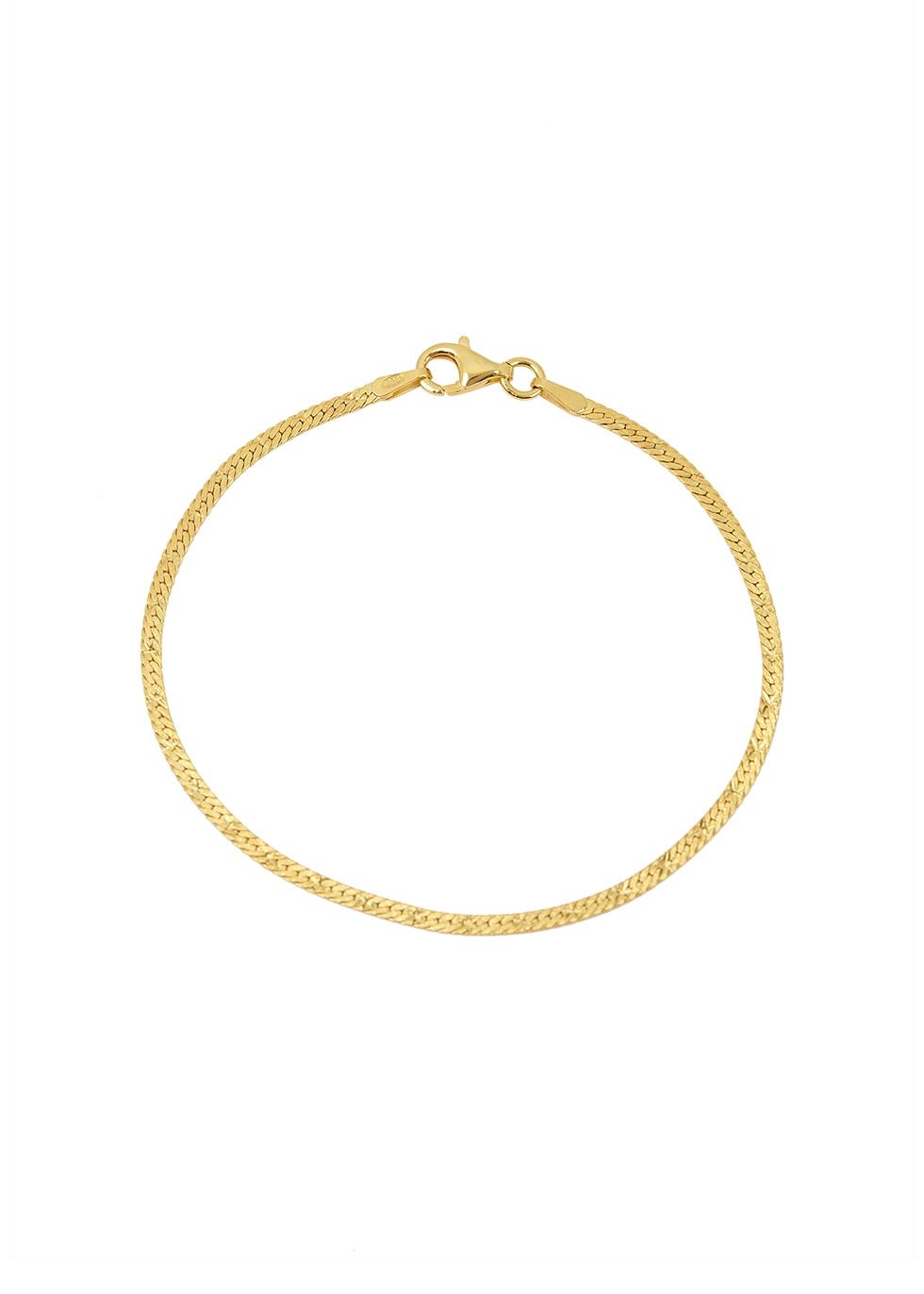 X Estée Lalonde Flat Snake 18kt gold-plated bracelet