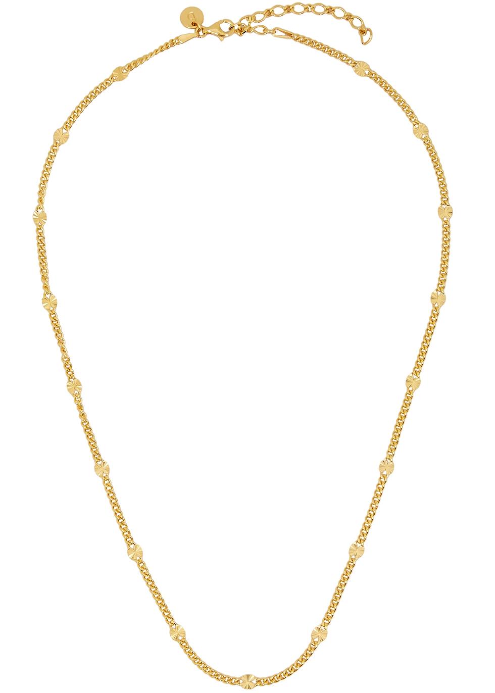X Estée Lalonde Sunburst 18kt gold-plated chain necklace