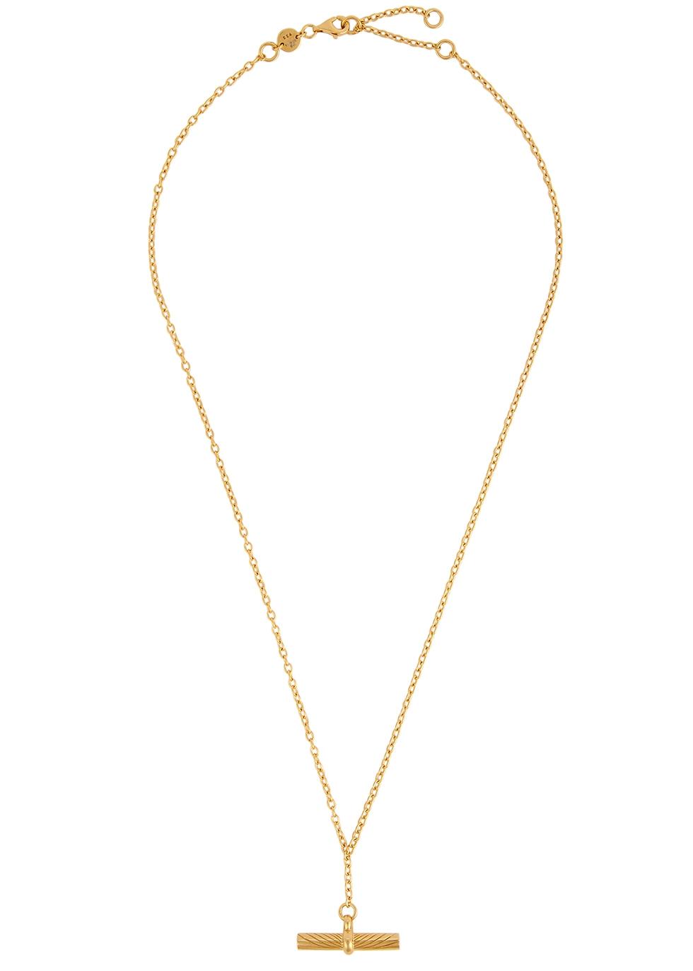 X Estée Lalonde 18kt gold-plated necklace