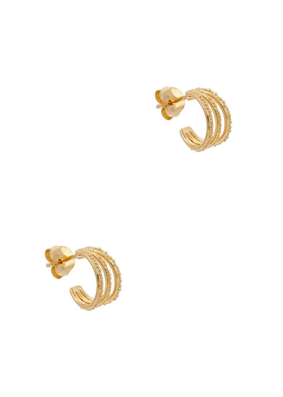 Amanda 18kt gold-plated hoop earrings