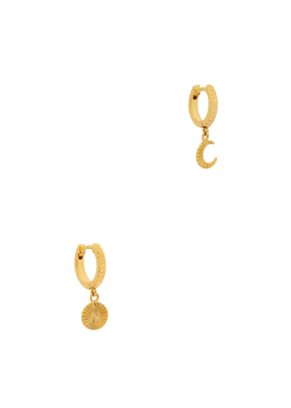 X Estée Lalonde Luna 18kt gold-plated hoop earrings