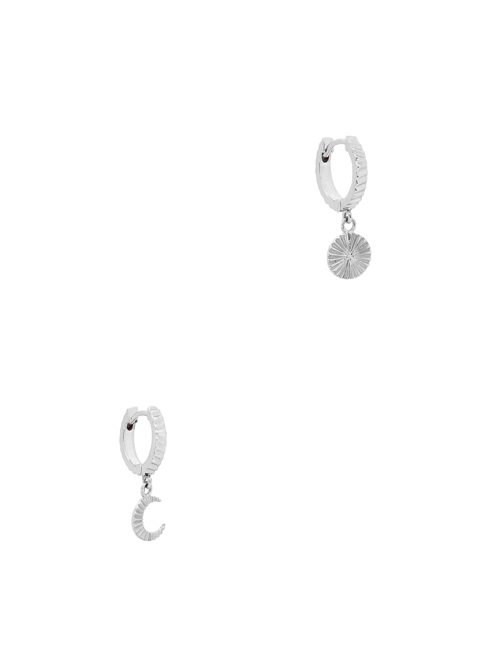 X Estée Lalonde Luna sterling silver hoop earrings