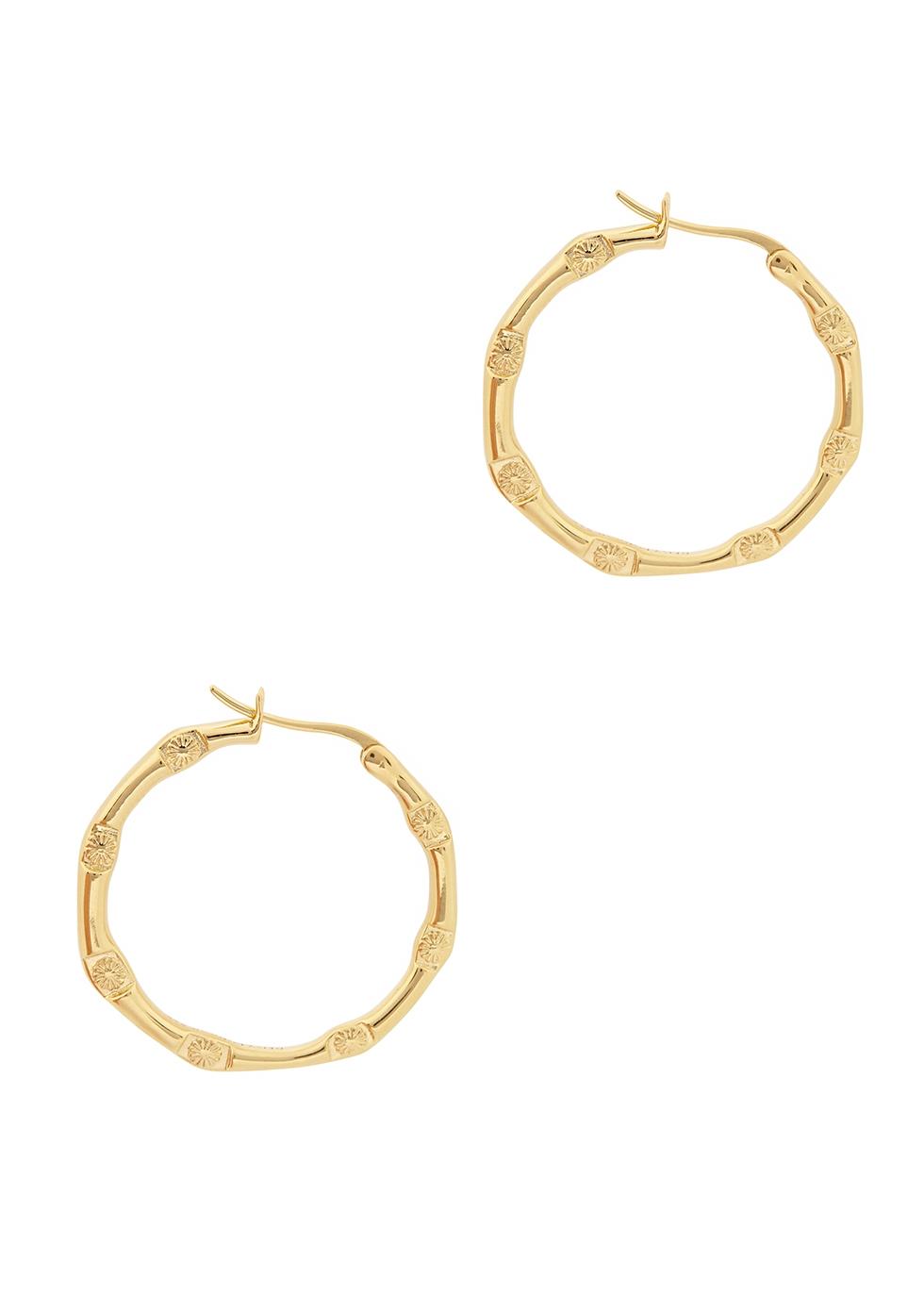 X Estée Lalonde Goddess Glow 18kt gold-plated hoop earrings