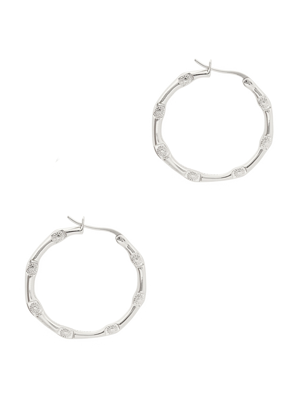 X Estée Lalonde Goddess Glow sterling silver hoop earrings