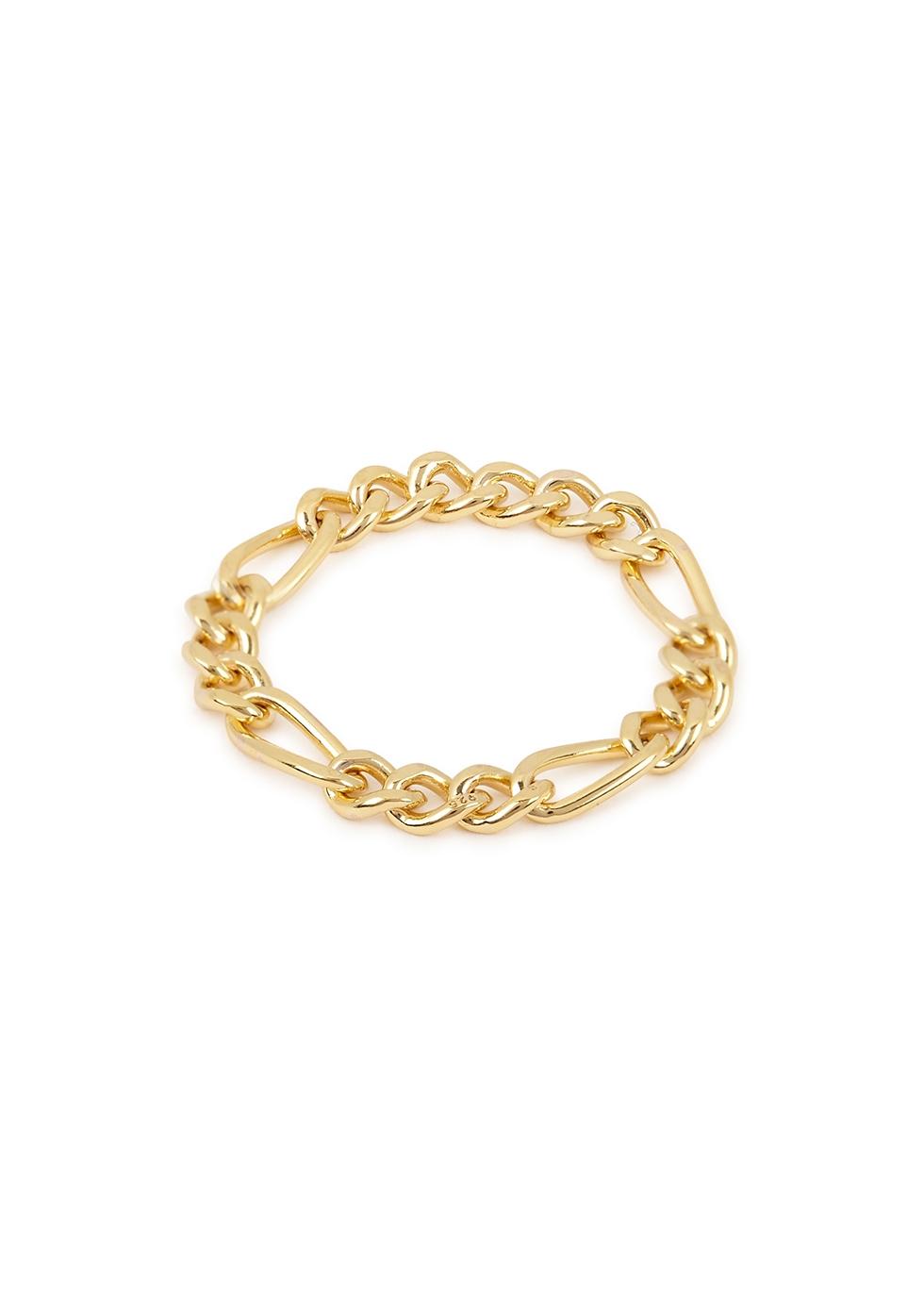 X Estée Lalonde Figaro 18kt gold-plated ring