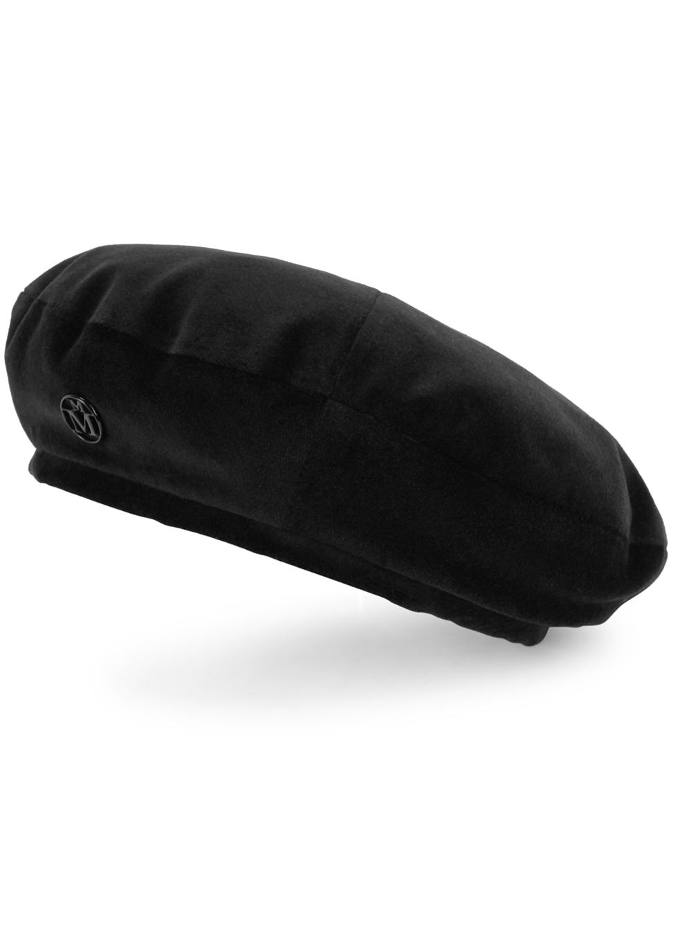 New Billy black cotton beret