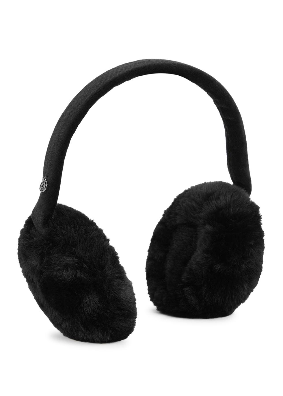 Morgana black faux fur ear muffs