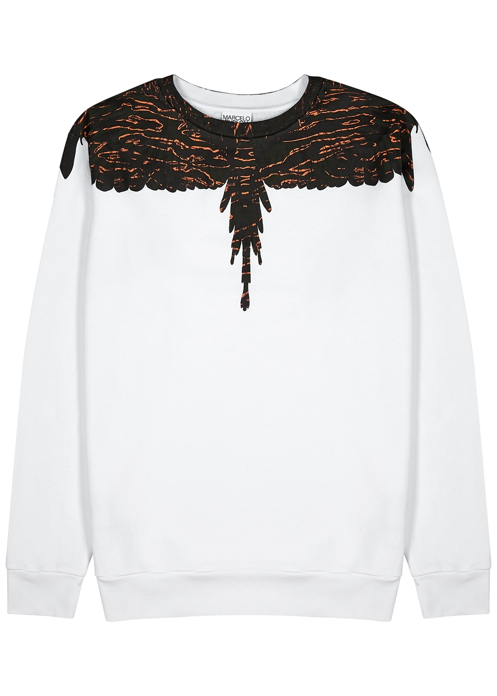 Camo Wings printed cotton sweatshirt