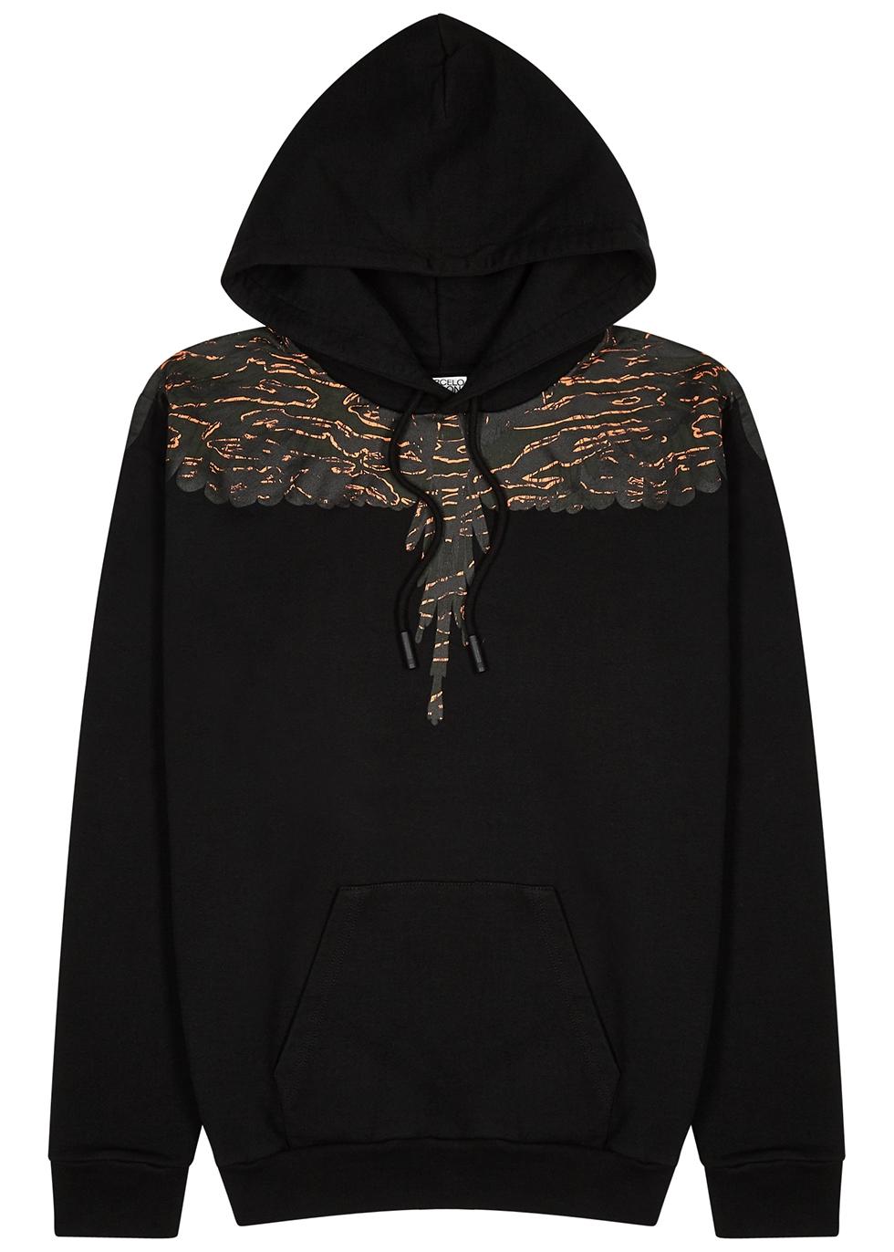 Camo Wings hooded cotton sweatshirt