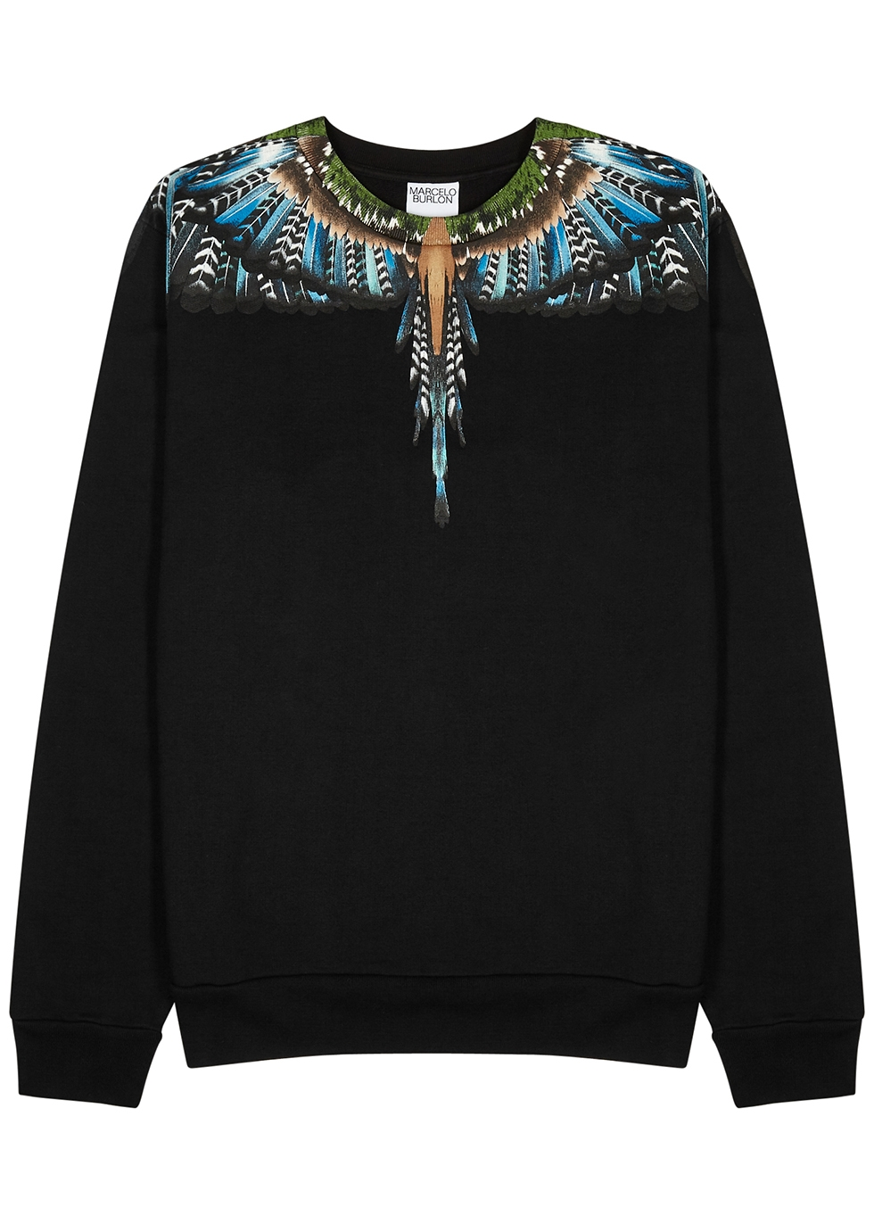 Grizzly Wings black printed cotton sweatshirt