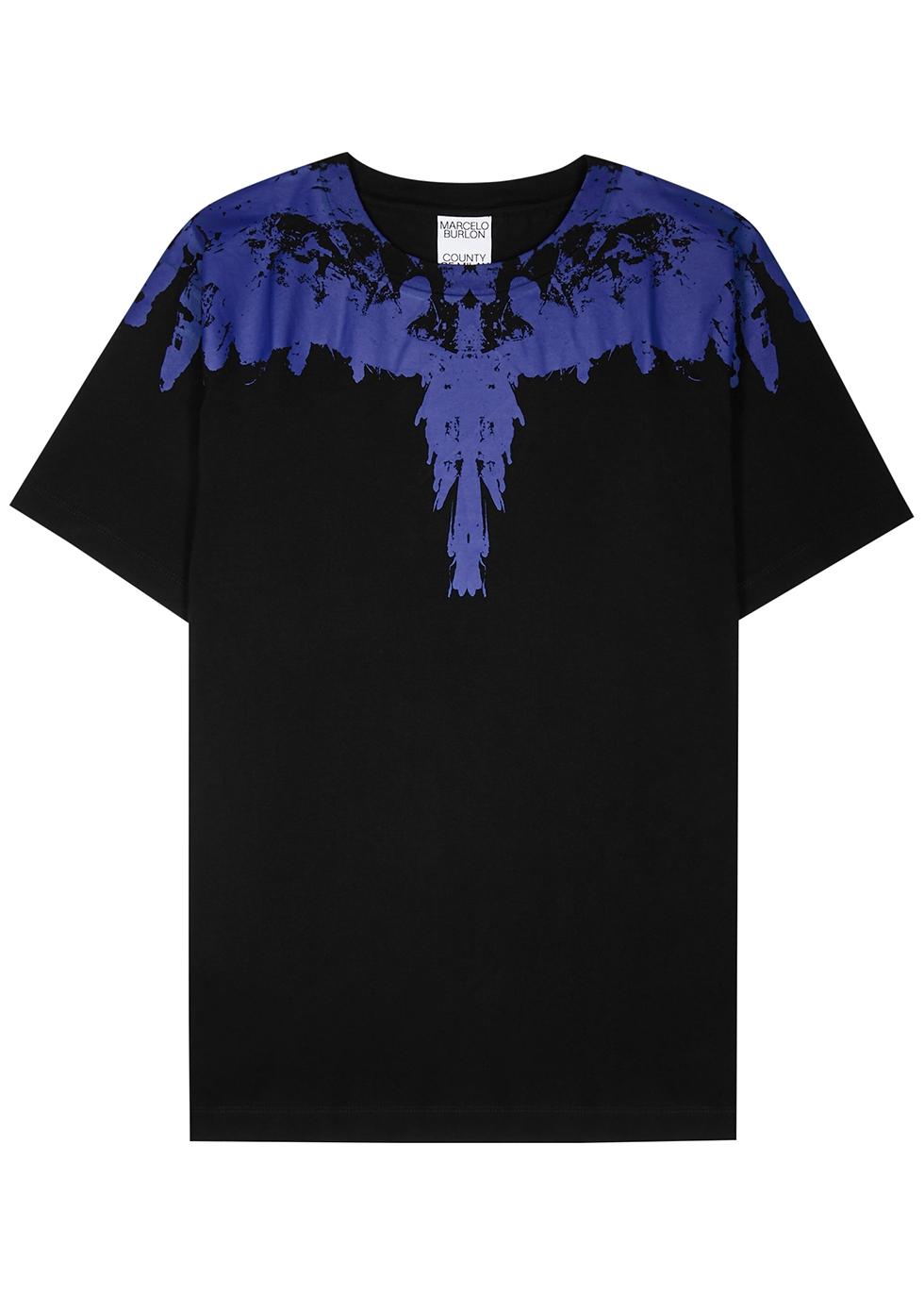 Tempera Wings printed cotton T-shirt