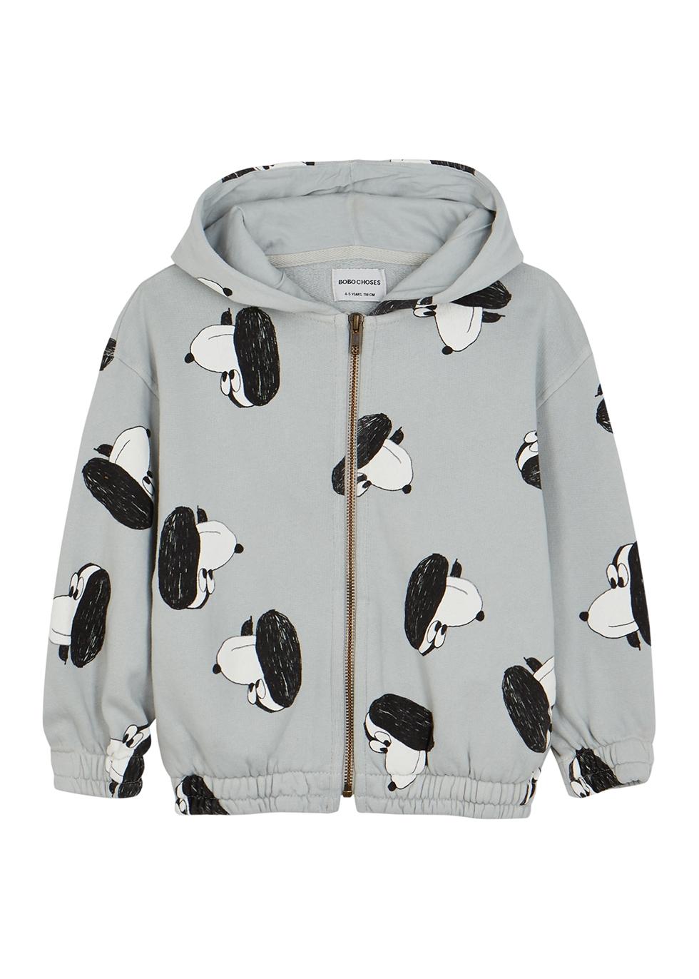Doggie printed hooded cotton sweatshirt