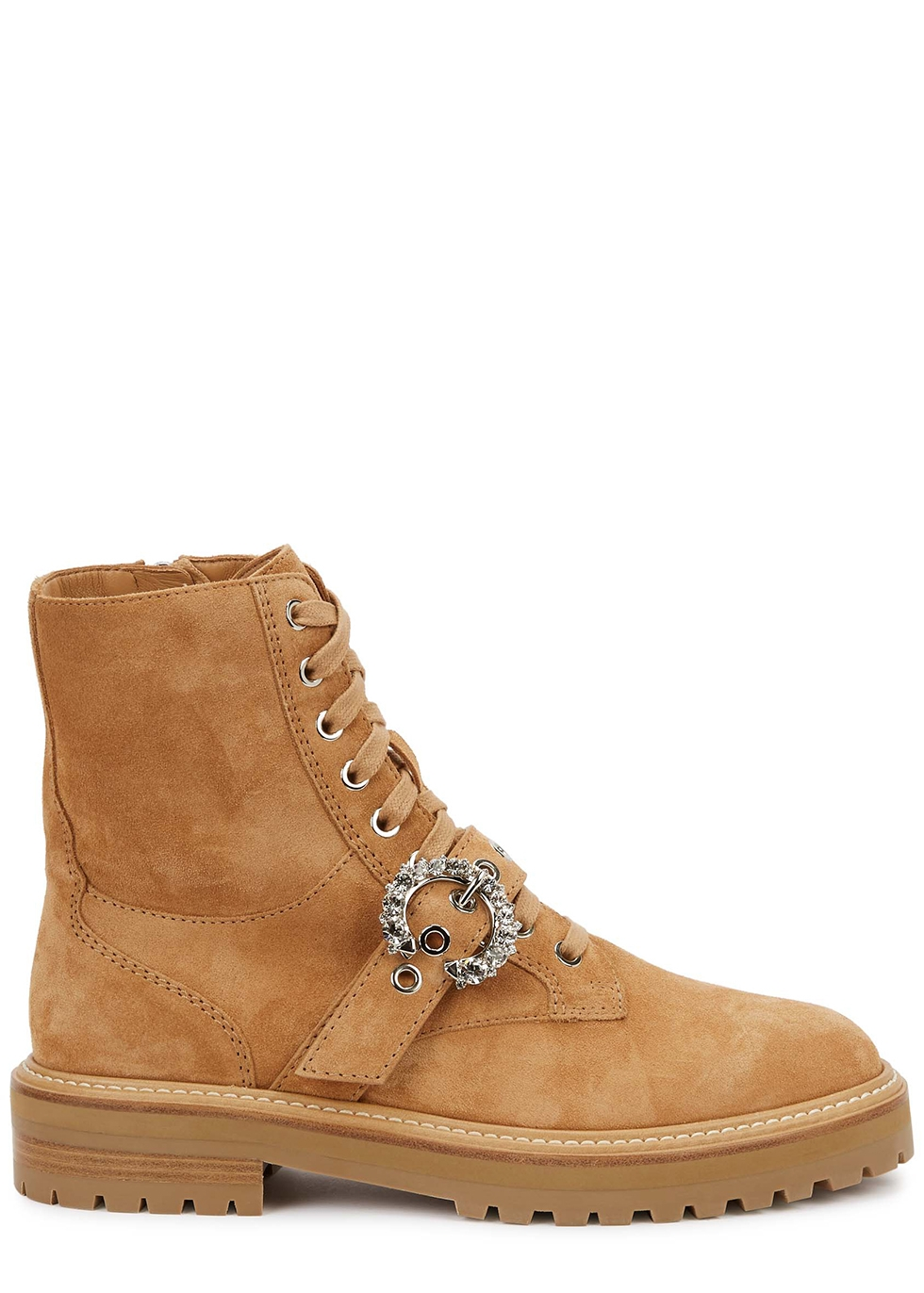 Cora camel suede ankle boots