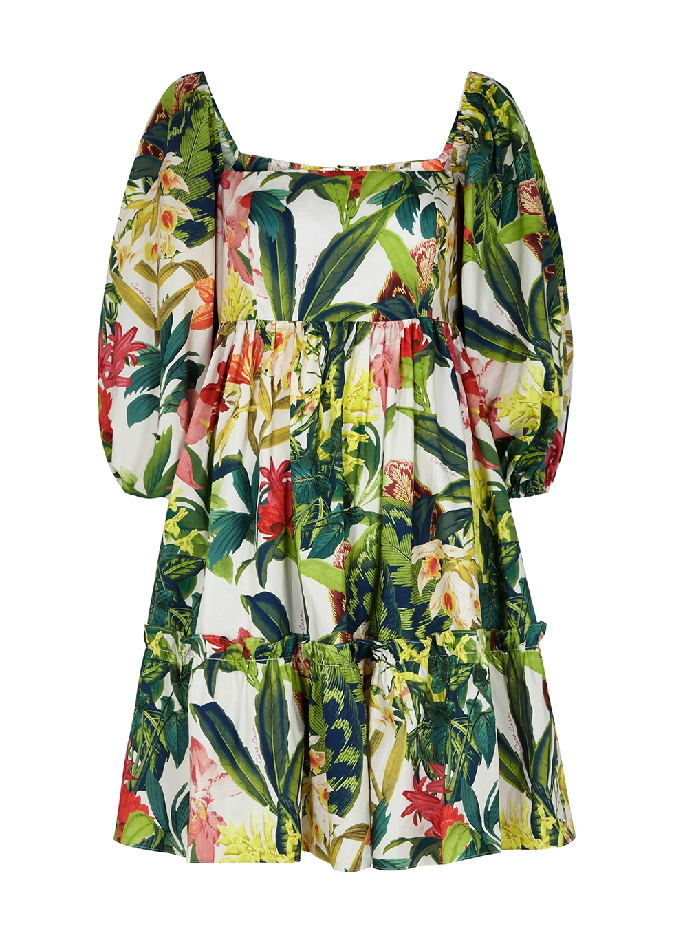 Sip Sip printed cotton-poplin mini dress