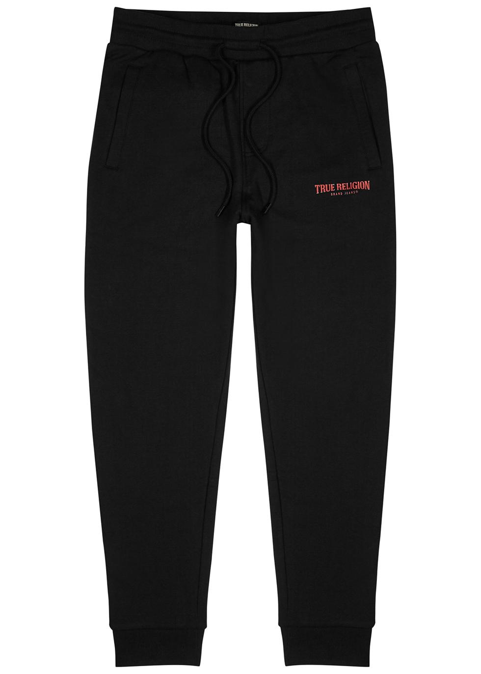 Black cotton-blend sweatpants