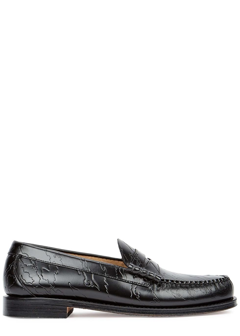 X Maharishi Weejuns Larson black leather loafers
