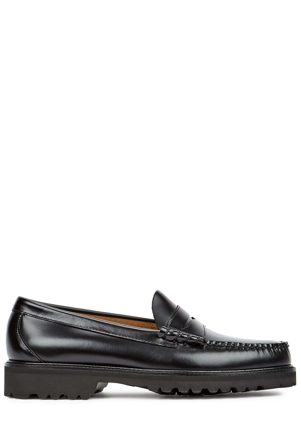 Weejuns Larson black leather loafers