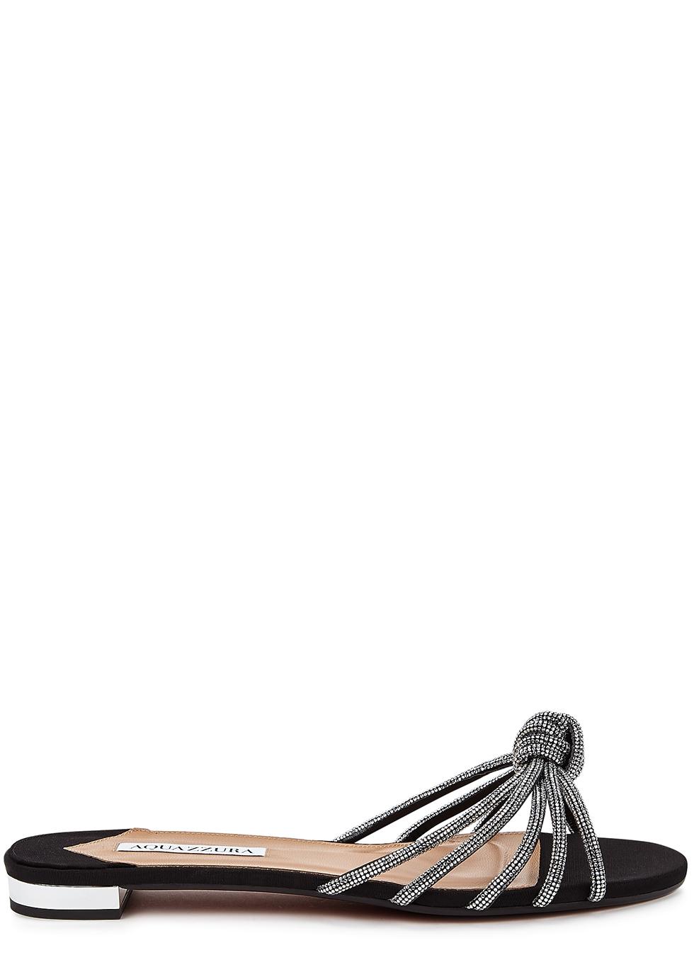 Celeste black embellished sliders