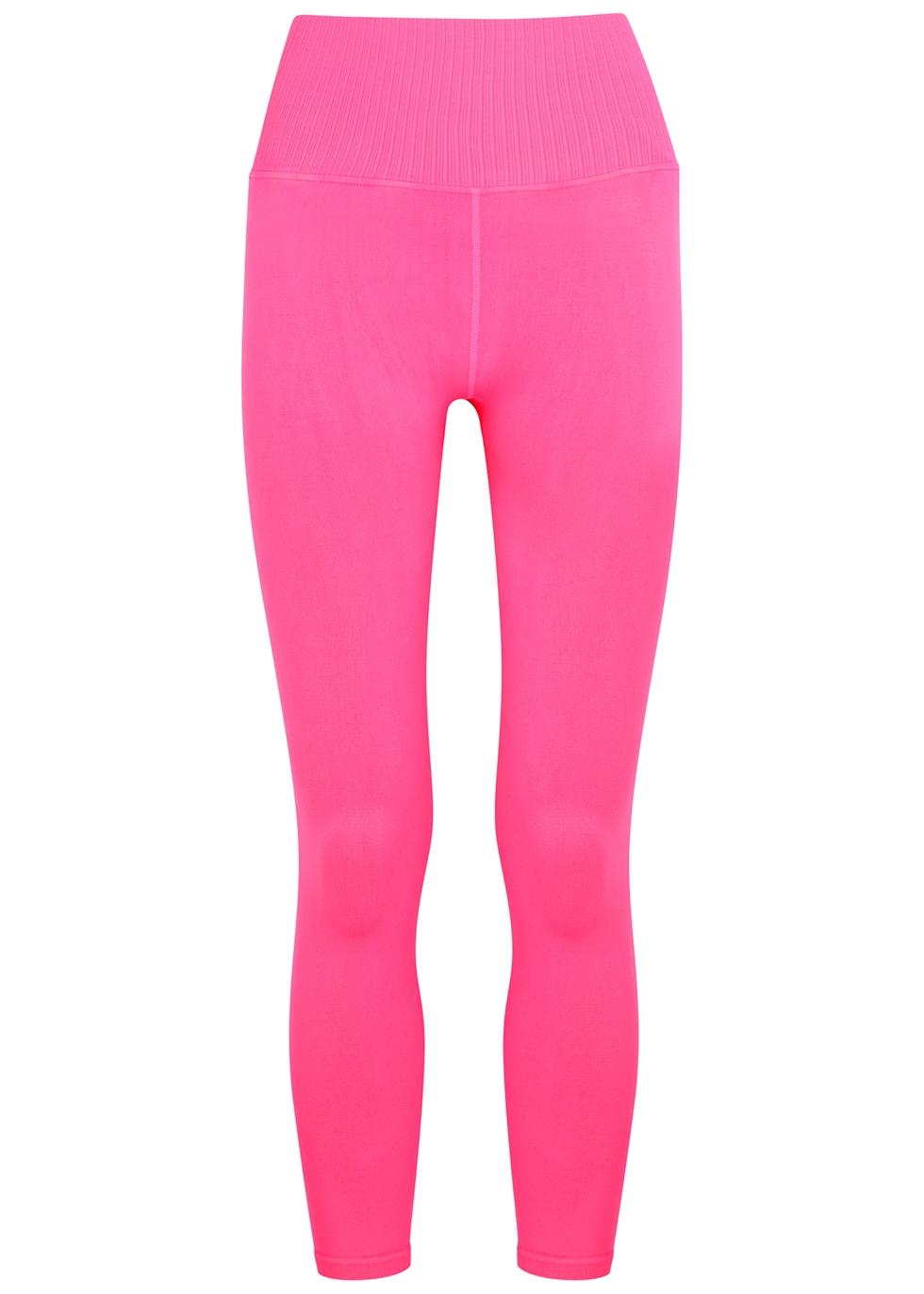 Good Karma neon pink stretch-jersey leggings