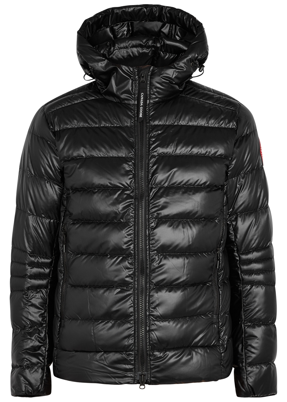 Crofton black quilted shell jacket