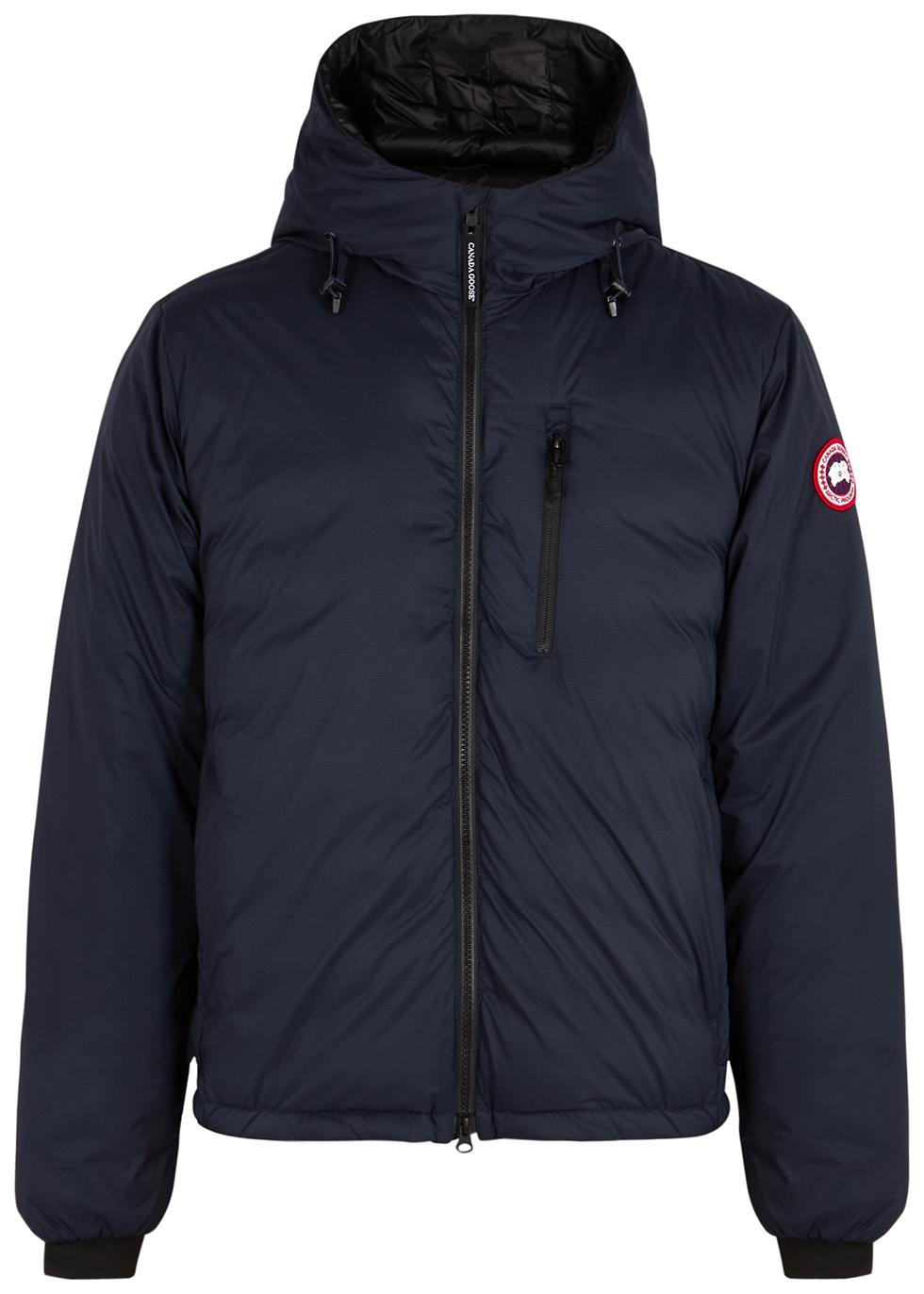 Lodge navy hooded ripstop shell jacket