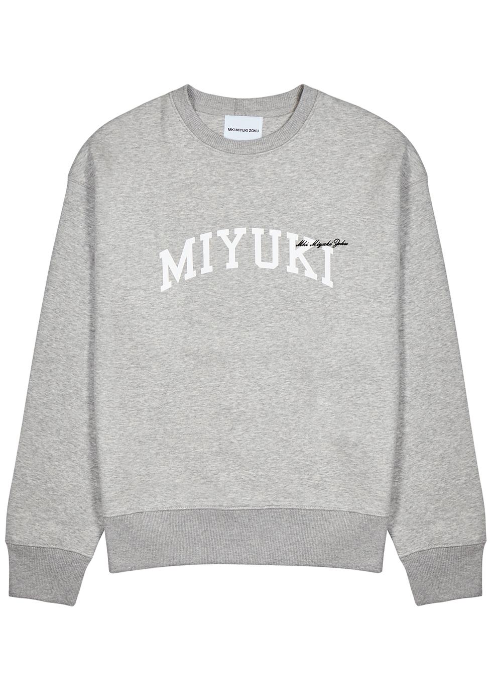 Grey logo jersey sweatshirt