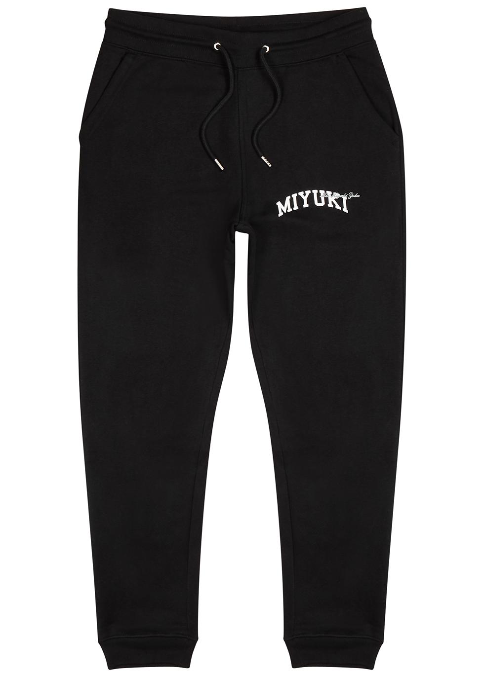 Black logo jersey sweatpants