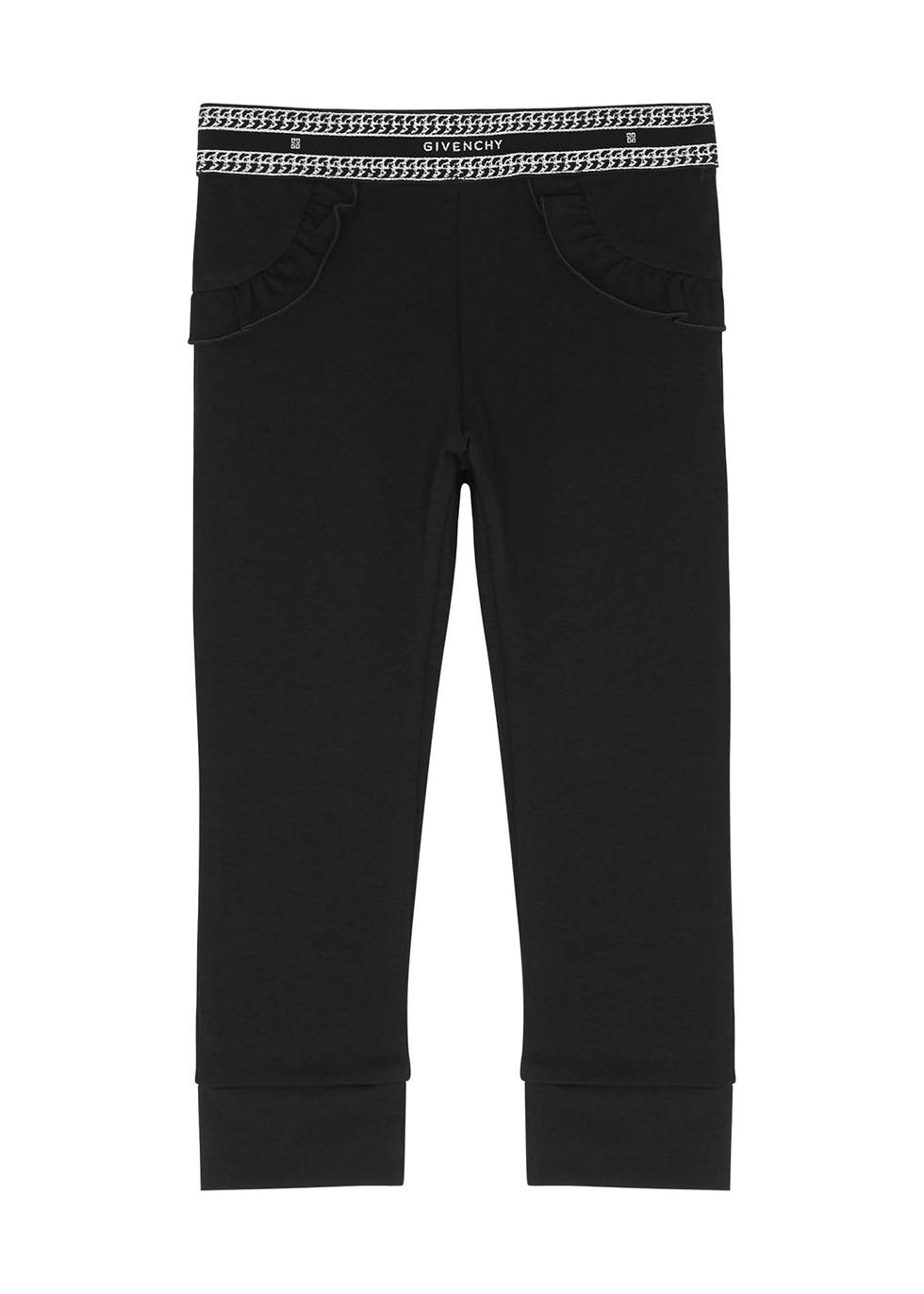 Black logo cotton-blend leggings (24-36 months)