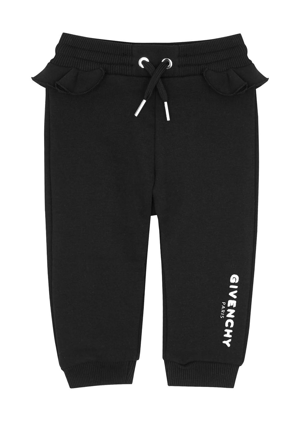Black logo cotton-blend sweatpants (6-18 months)