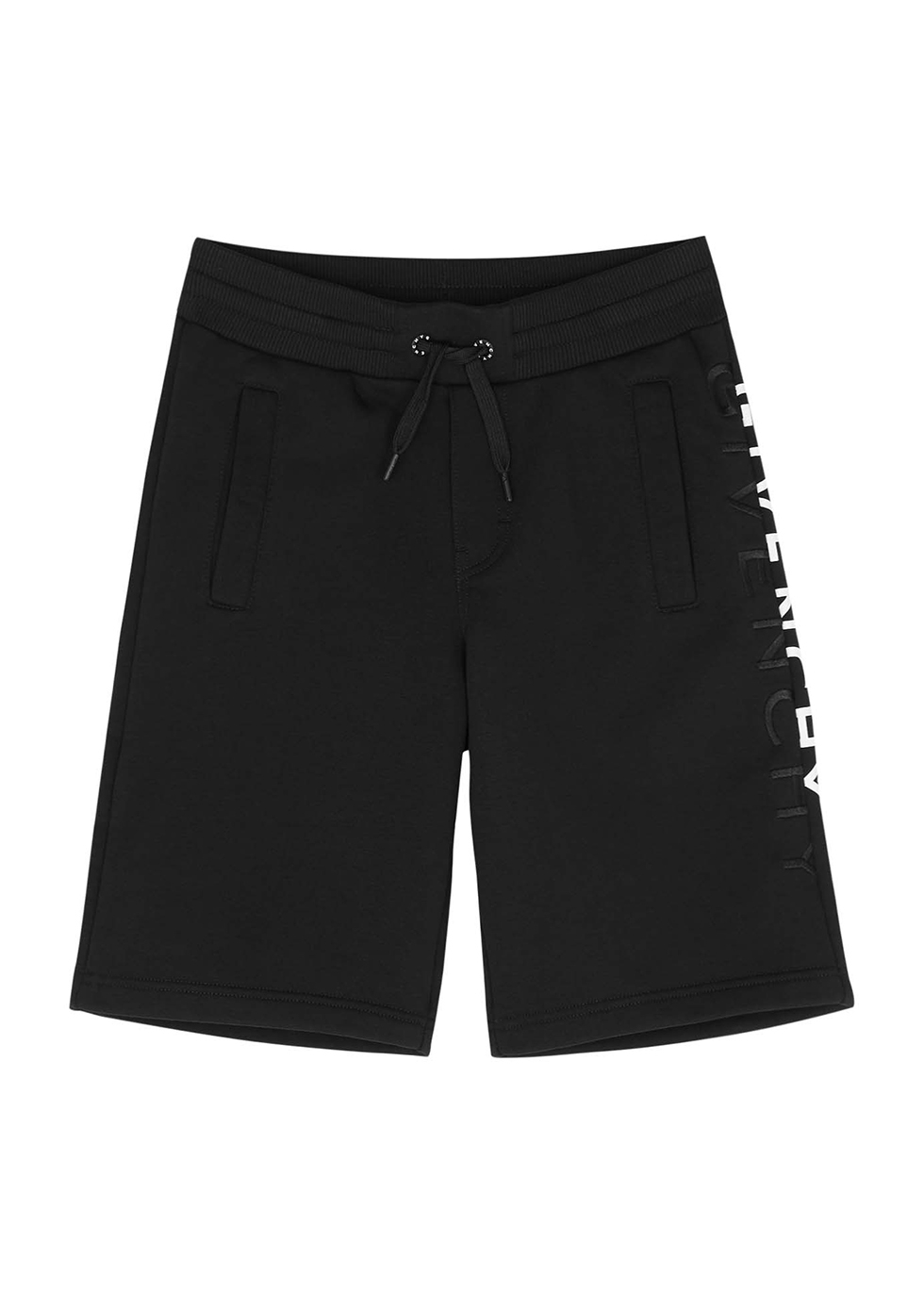 Black logo cotton-blend shorts (6-12 years)