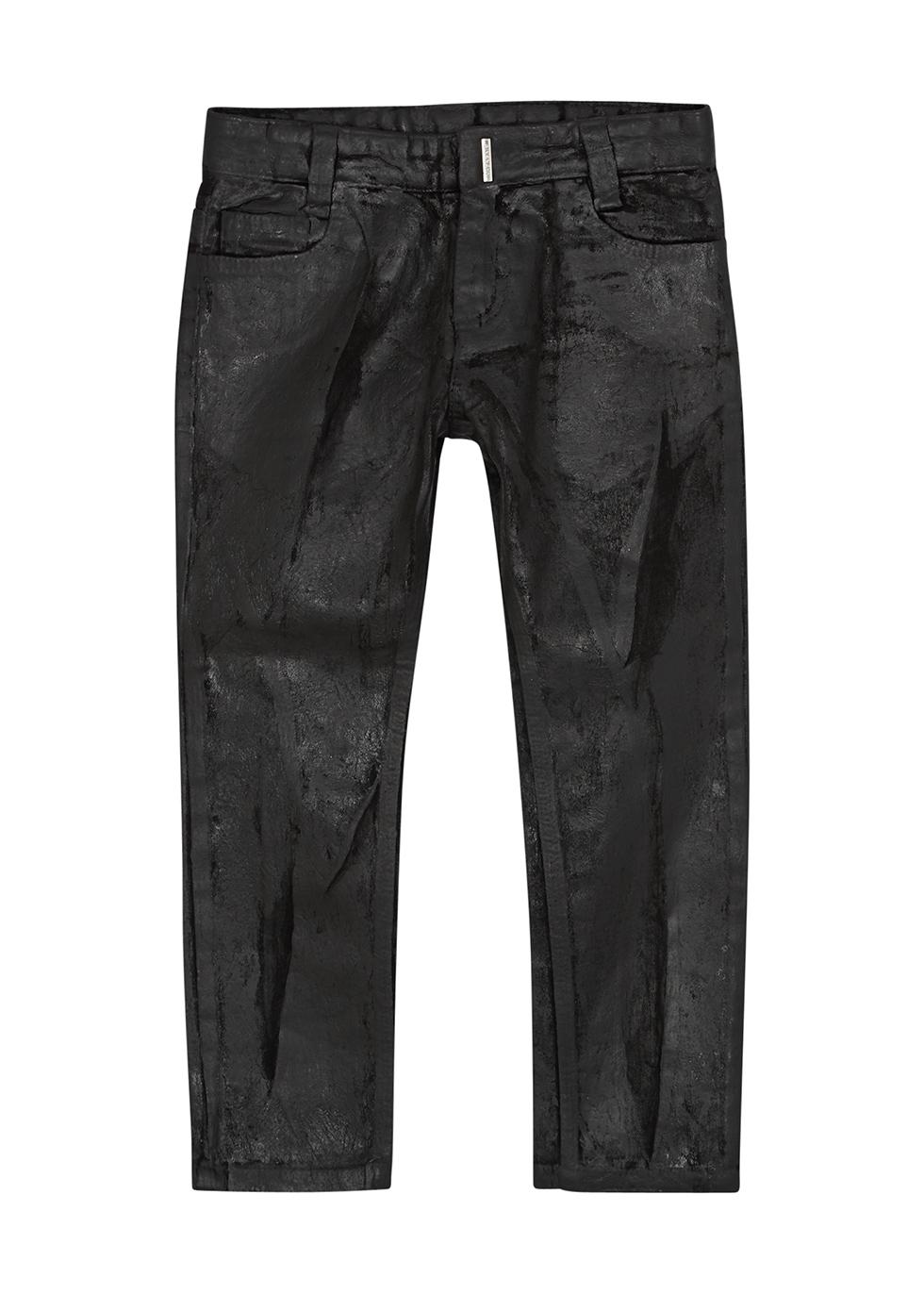 Black coated skinny jeans (4-5 years)