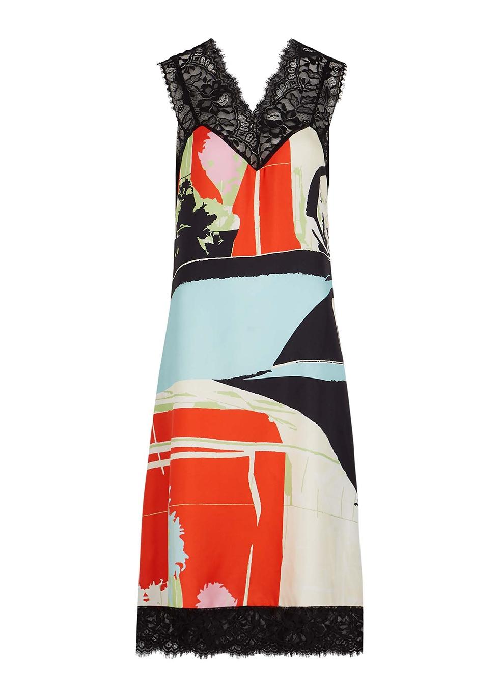 Béla printed silk midi dress