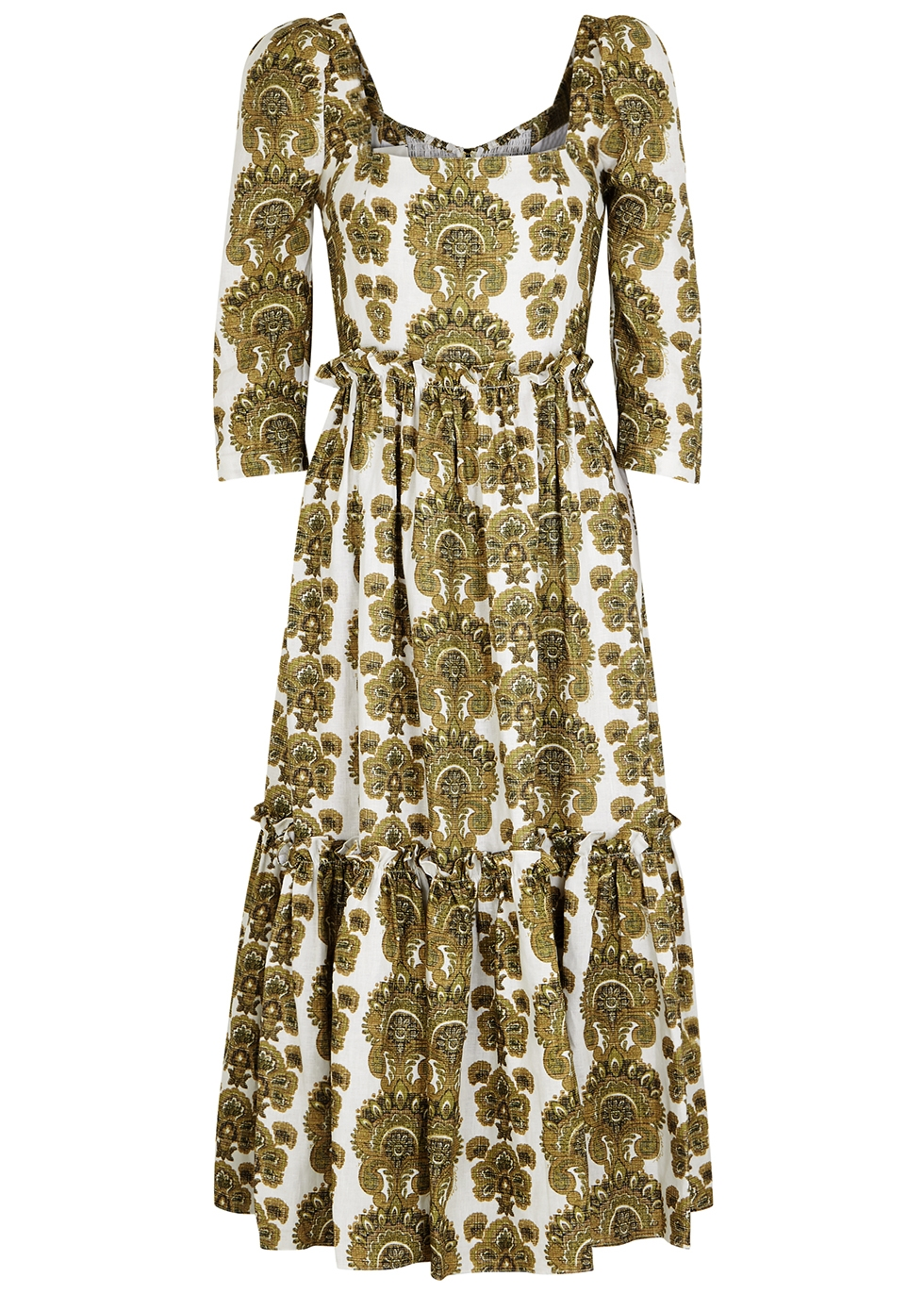 Blue Hill printed linen midi dress