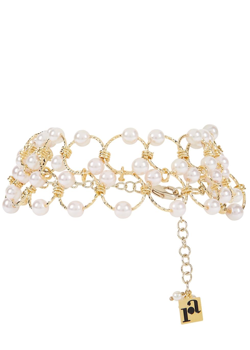 Siviglia embellished gold-tone choker
