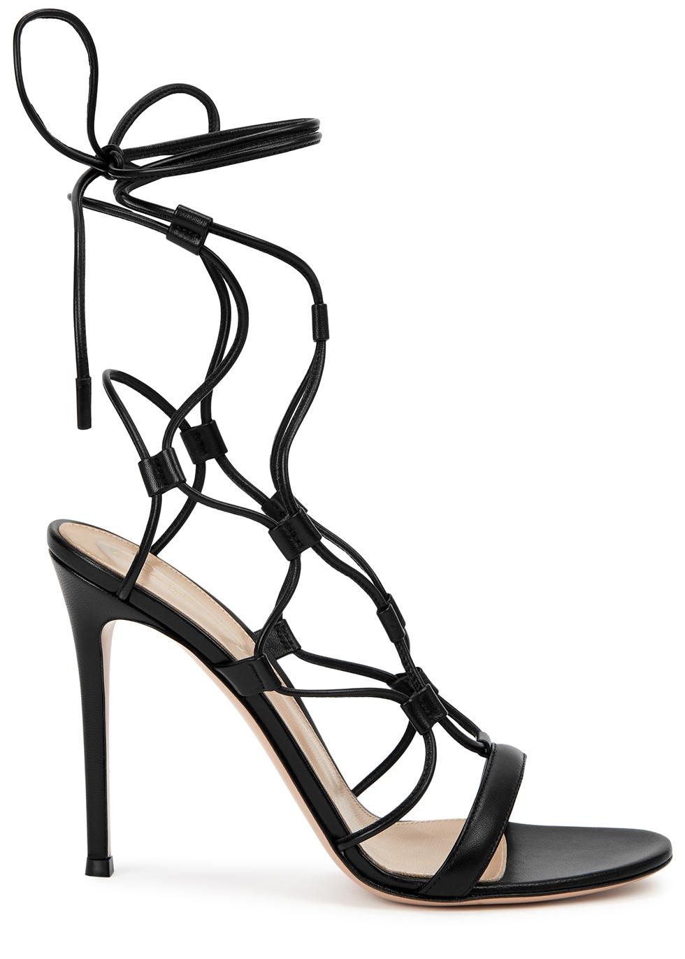 Giza 105 black leather sandals