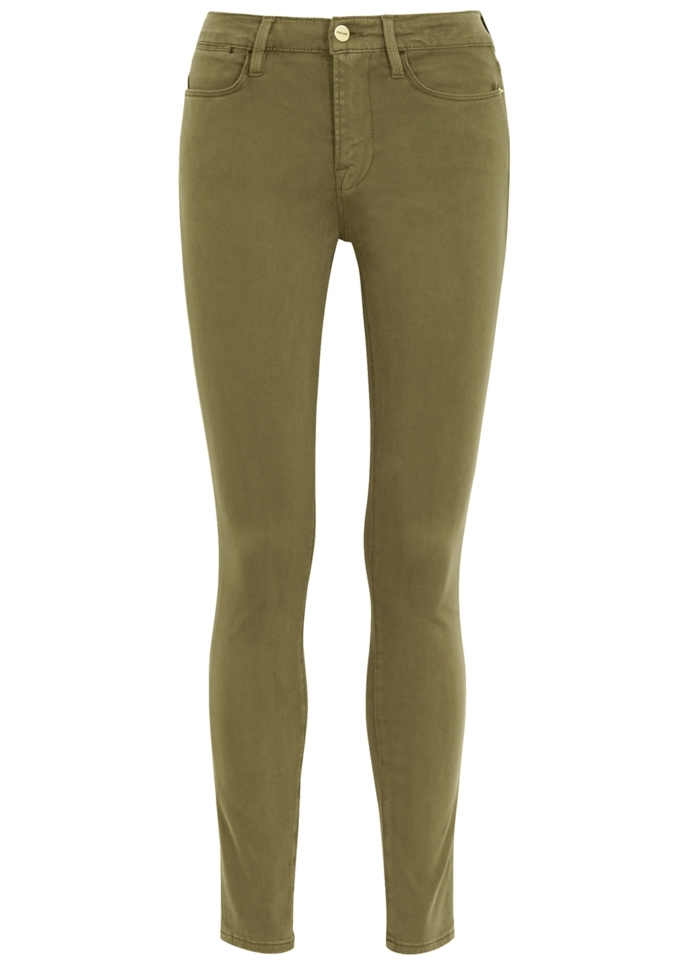 Le High skinny green jeans