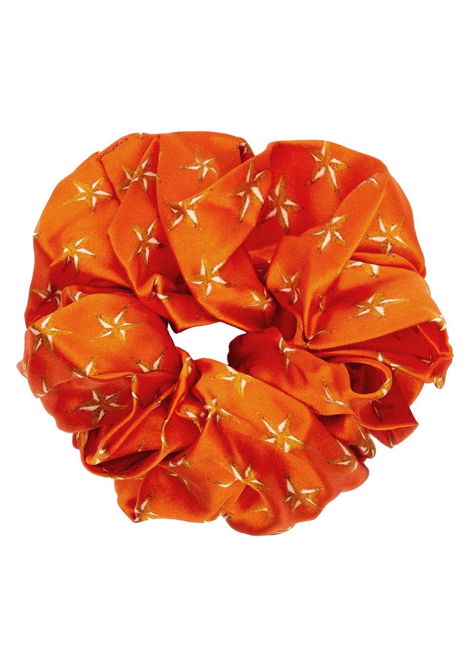 Lucy's Stars printed silk scrunchie