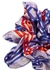 Periwinkle Plaid printed silk scrunchie - Jessica Russell Flint